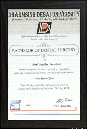 Dr.Payal Patel – BDS
